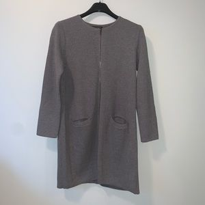 New Banana Republic gray full zip Car coat #3402